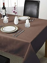 Chequers Luxury Design Tablecloth Chocolate 70x108