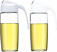 CHERISH Olive Oil Dispenser, 2 Pcs Auto Flip Salad