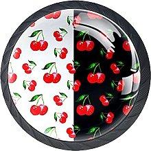 Cherry Black Knobs for Dresser Drawers Round