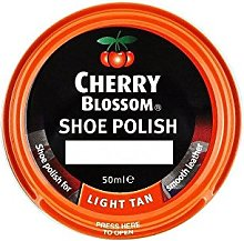 Cherry Blossom Shoe Polish - Light Tan (50ml) -