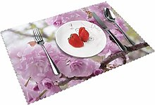 Cherry Blossoms Cherry Trees Table mat 4 piece