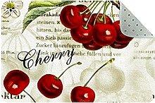 Cherry Door Mat, Machine Washable Soft Doormat