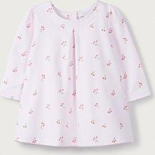 Cherry Print Jersey Dress, Pink, 12-18mths