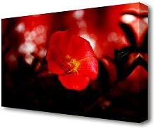Cherry Red Flowers Canvas Print Wall Art East