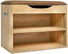 Cherry Tree Furniture 2-Level Shoe Rack Bench