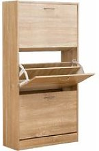 Cherry Tree Furniture 3-Level Wooden Shoe Cabinet