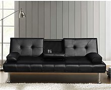Cherry Tree Furniture Black ACRUX 3-Seater Sofa