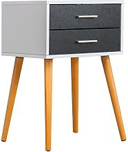 Cherry Tree Furniture Black & White 2-Drawer