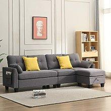 Cherry Tree Furniture Brunswick 4 Seater Storage