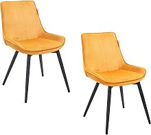 Cherry Tree Furniture Cala SET OF 2 Mustard Yellow