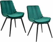 Cherry Tree Furniture Cala SET OF 2 Pine Green