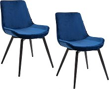 Cherry Tree Furniture Cala SET OF 2 Sapphire Blue