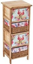 Cherry Tree Furniture Flamingo Pattern 2-Drawer &