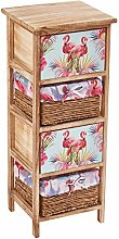 Cherry Tree Furniture Flamingo Pattern 2-Drawer &