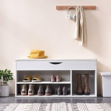 Cherry Tree Furniture Hallway Shoe Rack Padded