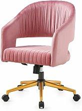 Cherry Tree Furniture Perce Velvet Swivel Desk