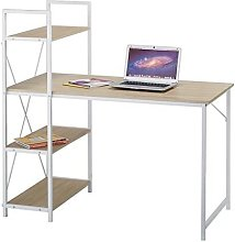 CherryTree Furniture 4-Tier Shelves Computer Desk