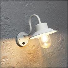 Chesham Outdoor Wall Light PIR with White Finish