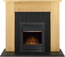 Chessington Fireplace Suite in Oak with Colorado