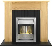 Chessington Fireplace Suite in Oak with Helios