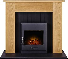 Chessington Fireplace Suite in Oak with Oslo
