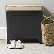 Chester Charcoal NEW Small Shoe Storage Trunk Bench