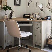 Chester Dove Grey Corner Desk