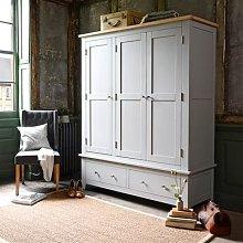 Chester Dove Grey Triple Wardrobe