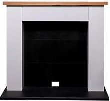 Chester Electric Stove Fireplace in Pure White, 39