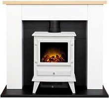 Chester Fireplace in Pure White with Hudson