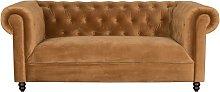 Chester Gold-brown velvet sofa