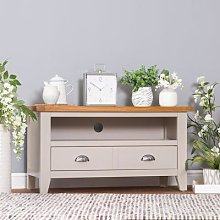 Chester Grey Painted Oak Small TV Unit