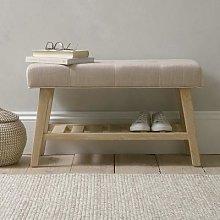 Chester Oak 80cm Upholstered Hallway Bench