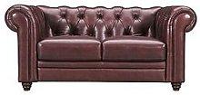Chester Premium Leather 2 Seater Sofa