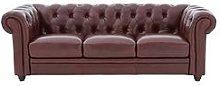Chester Premium Leather 3 Seater Sofa