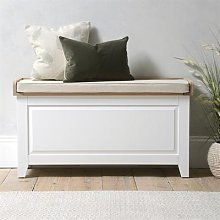 Chester Pure White NEW Large Shoe Storage Trunk