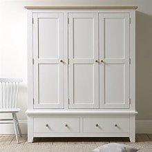 Chester Pure White NEW Triple Wardrobe