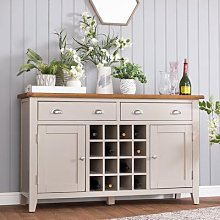 Chester Stone Painted Oak 2 Door Large Sideboard
