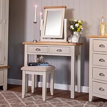Chester Stone Painted Oak Dressing Table