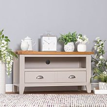 Chester Stone Painted Oak Small TV Unit