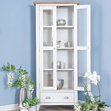 Chester White Painted Oak Display Cabinet