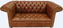 Chesterfield 1857 2 Seater Buttoned Seat Leather