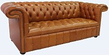 Chesterfield 1857 3 Seater Buttoned Seat Leather