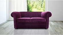 Chesterfield 1930's 2 Seater Settee Purple