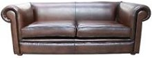 Chesterfield 1930's 3 Seater Settee Antique