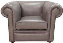 Chesterfield 1930's Low Back Club ArmChair Old