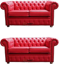Chesterfield 2+2 Old English Gamay Red Sofa Offer