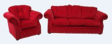Chesterfield 2 Piece Sofa Set Winchester Leather