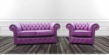 Chesterfield 2 Seater + 1 Seater Club Chair