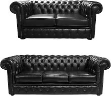 Chesterfield 2 Seater + 3 Seater Sofa Old English
